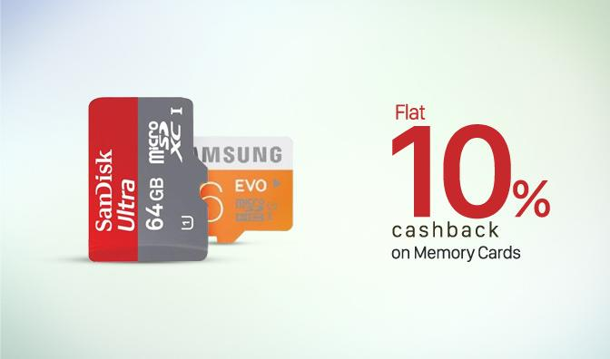 Paytm Cashback on Selected Memory Cards and Pendrives PD10