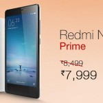 Redmi Note Prime available on Amazon at Rs.7999