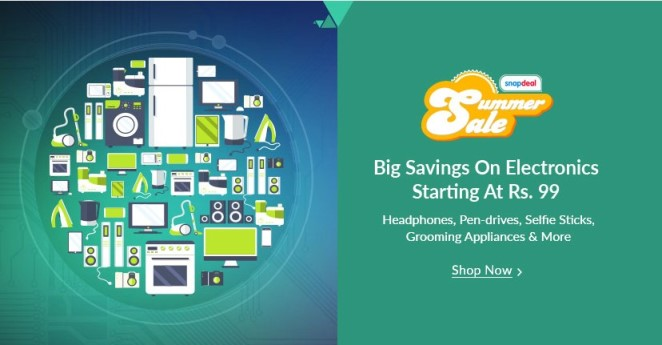 Snapdeal Electronics Sale Summer Sale
