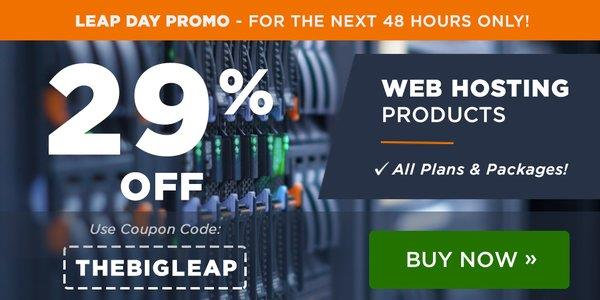 BigRock Leap Day Sale Web Hosting Discount