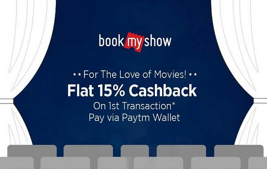 BookMyShow Paytm Offer Cashback