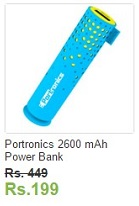 Ebay Portronics 2600 mAh Power Bank