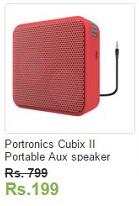 Ebay Portronics Cubix II Portable Aux speaker