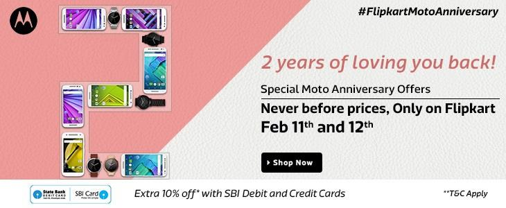 Flipkart Moto Anniversary Offers