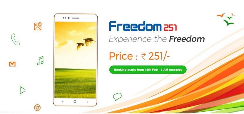 Freedom 251 Smartphone