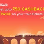 IRCTC Cashback Offer – Get Upto Rs.50 Cashback with Mobikwik