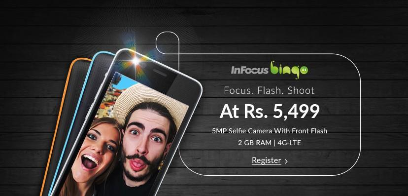 Infocus Bingo 21 snapdeal register