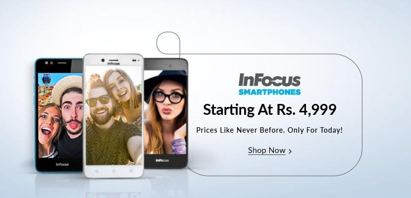 Infocus Smartphones at Snapdeal 10 march