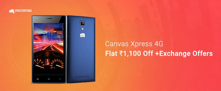 Micromax Canvas Xpress 4G 1100 off