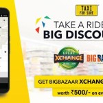 Taxi For Sure Big Bazaar Xchange Vouchers Worth Rs 500