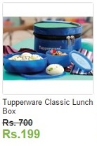 ebay tupperware Classic lunch box at Rs 700