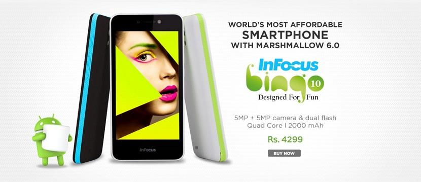 Infocus Bingo 10 on snapdeal