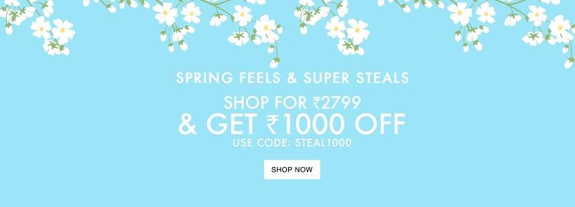 Jabong Spring Super Steals