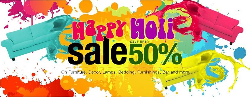 Pepperfry Happy Holi Sale