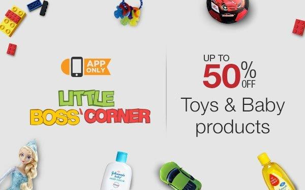 Amazon App Toys Baby Product Sale 50 off Little Boss App Corner