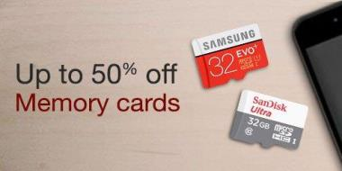 Amazon Grab a Byte storage Sale offers Memory Cards at Discount