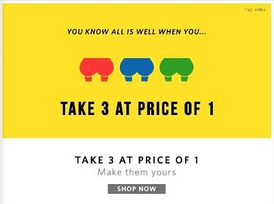 Buy 1 Take 3 Myntra Mobile