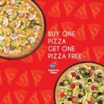 Dominos Pizza Buy 1 Get 1 FREE Offer – Extra 10% Cashback