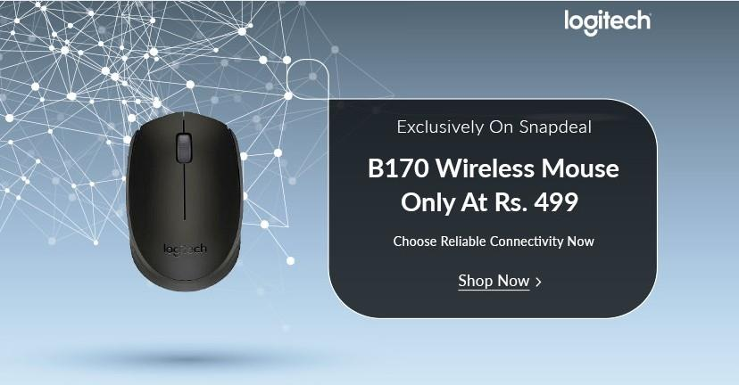 Logitech B170 Wireless Mouse on Snapdeal
