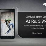 Micromax Canvas Spark 2 Plus on Snapdeal at Rs.3999