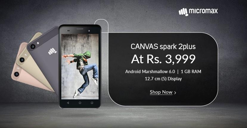 Micromax Canvas Spark 2 Plus New