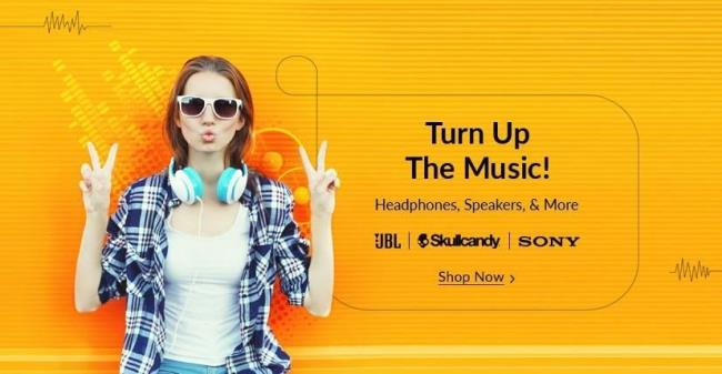 Snapdeal Mega Audio Sale Turn Up the Music