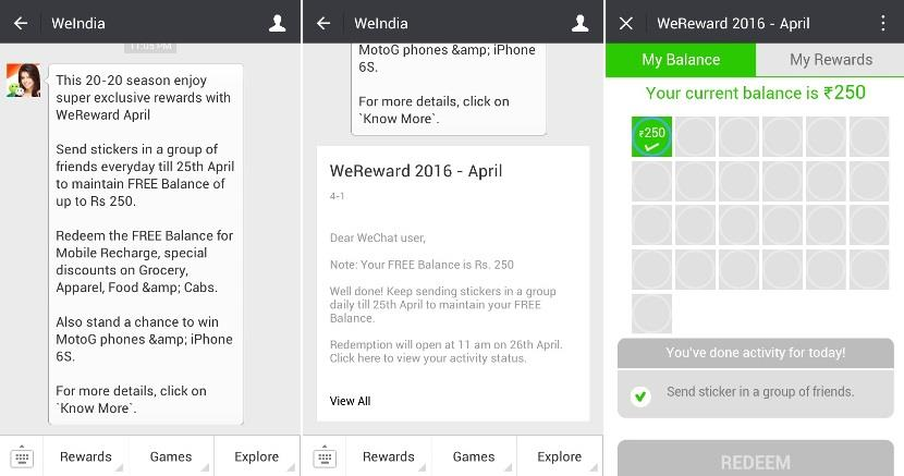 Wechat Wereward April 2016
