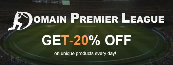 the BigRock Domains Sale Domain Premier League