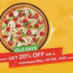 Dominos Pizza Coupons – 20% OFF on Orders Above 400