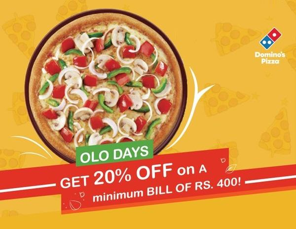 Dominos Pizza Coupons OLO20