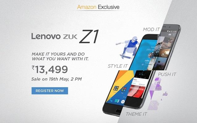 Lenovo ZUK Z1 Register