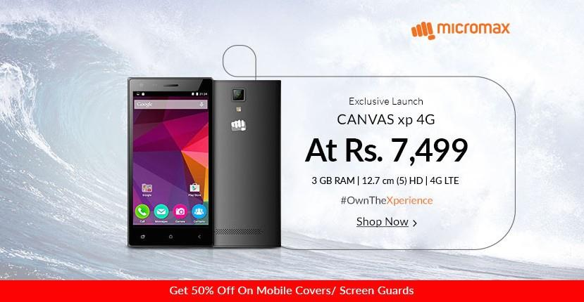 Micromax Canvas XP 4G Available on Snapdeal