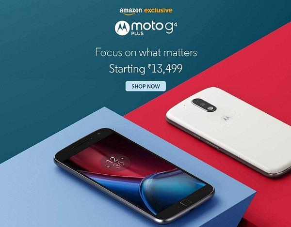 Moto G4 Plus Launch on Amazon