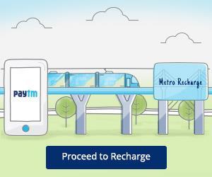 Mumbai Metro Card Recharge Offer on Paytm