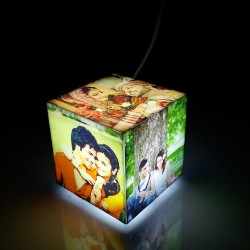 Personalised Cubelit Mini Photo Table Lamp on Giftcart
