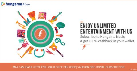 freecharge hungama music offer