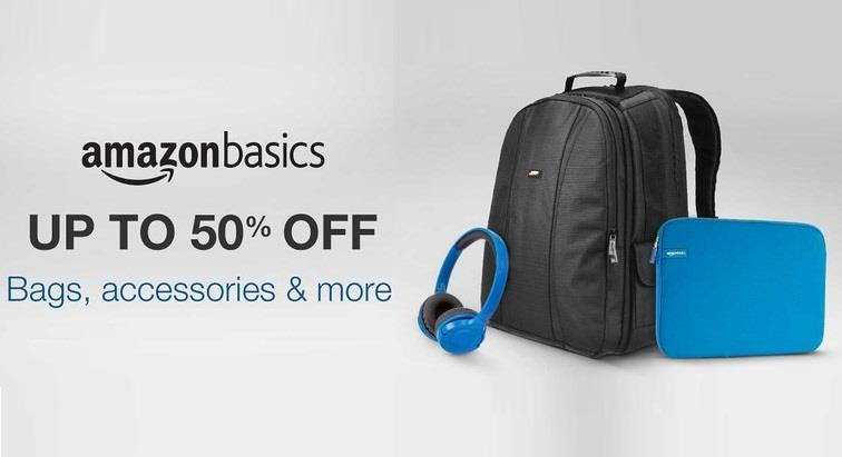 AmazonBasics Accessories and Bags at Up to 50% OFF