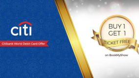 BookMyShow Citibank Offer - Buy One Get One Free Ticket
