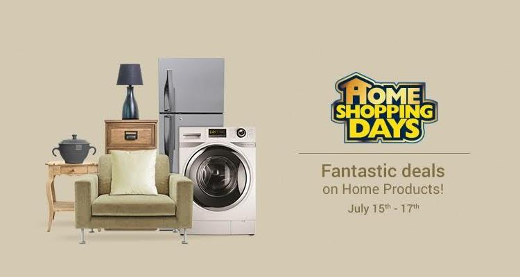 Flipkart Home Shopping Days on 15th - 17th July