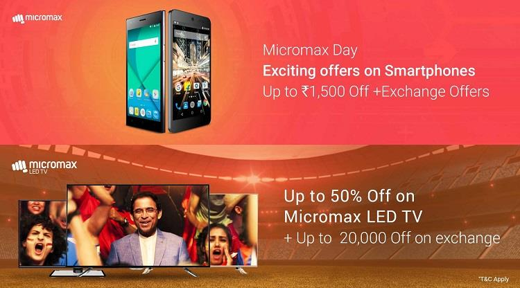 Flipkart Micromax Day - Exciting Offers on TV, Laptop & Mobiles