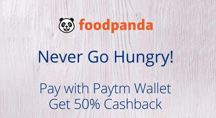 Foodpanda Paytm Offer - Upto 50% Cashback