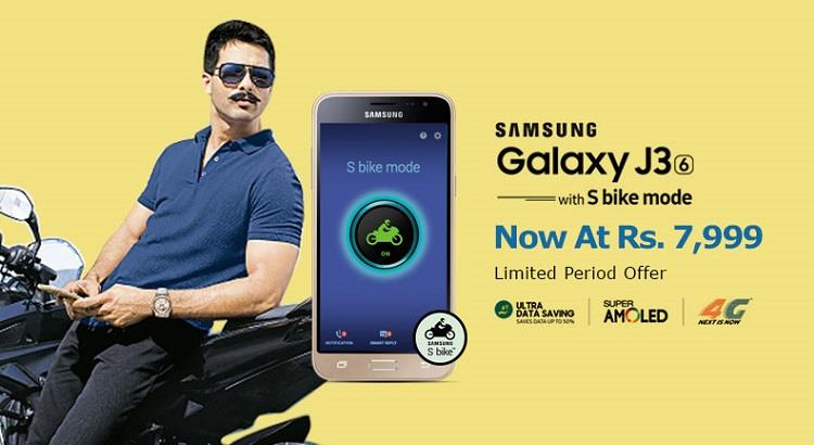 Samsung Galaxy J3 Available on Snapdeal at Rs. 7999