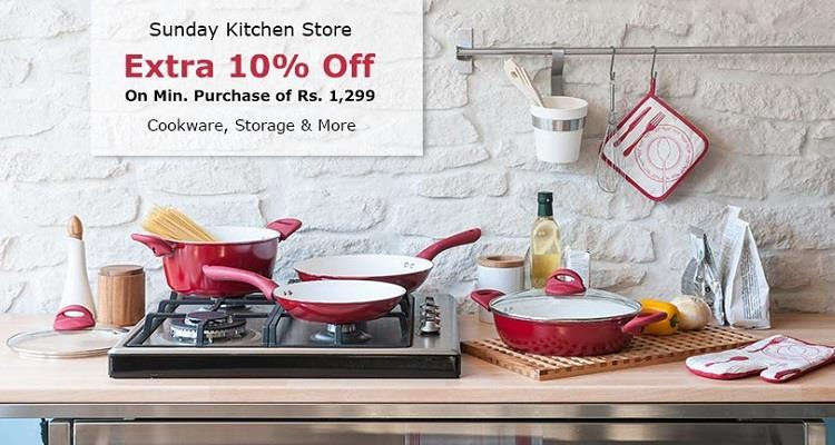 Snapdeal Sunday Kitchen Store 50 Delicious Offers Starts @99 extra 10 off