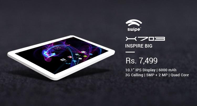 Swipe X703 3G Calling Tablet