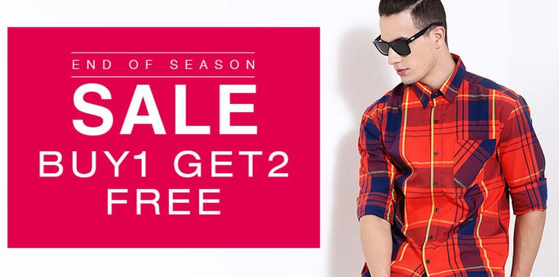 Yepme Buy 1 get 2 Free on Men's Clothing EOSS