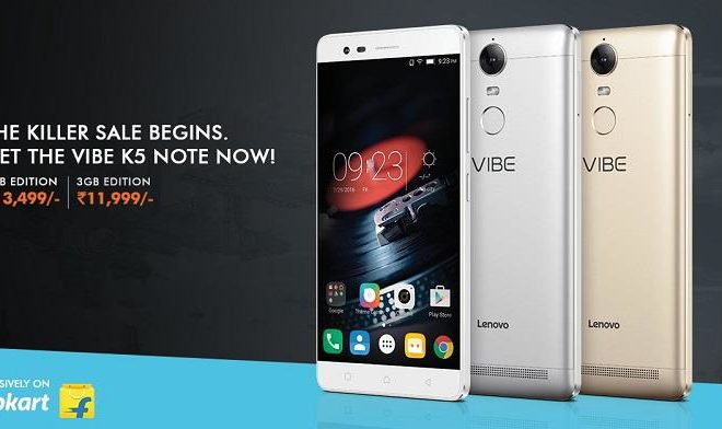 Lenovo K5 Note Available at Rs.11999 on Flipkart 2 variant