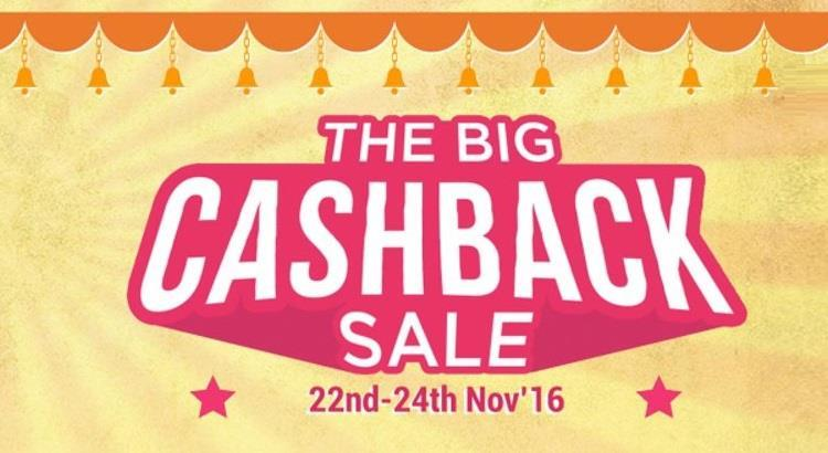Paytm Big Cashback Sale - 22nd to 24th November
