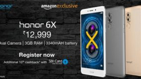 Huawei Honor 6X Sale on Amazon - 10% Cashback with SBI Cards