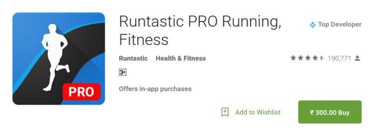 runtastic pro free